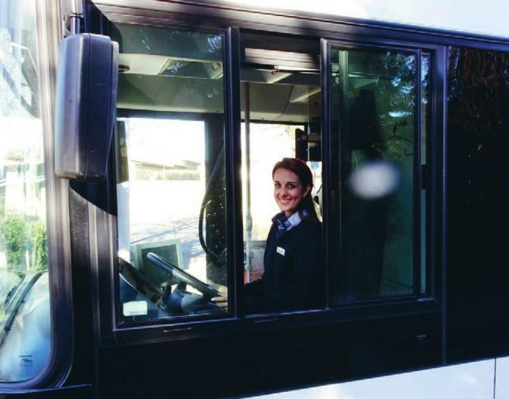 Lieber Bus fahren statt LKW