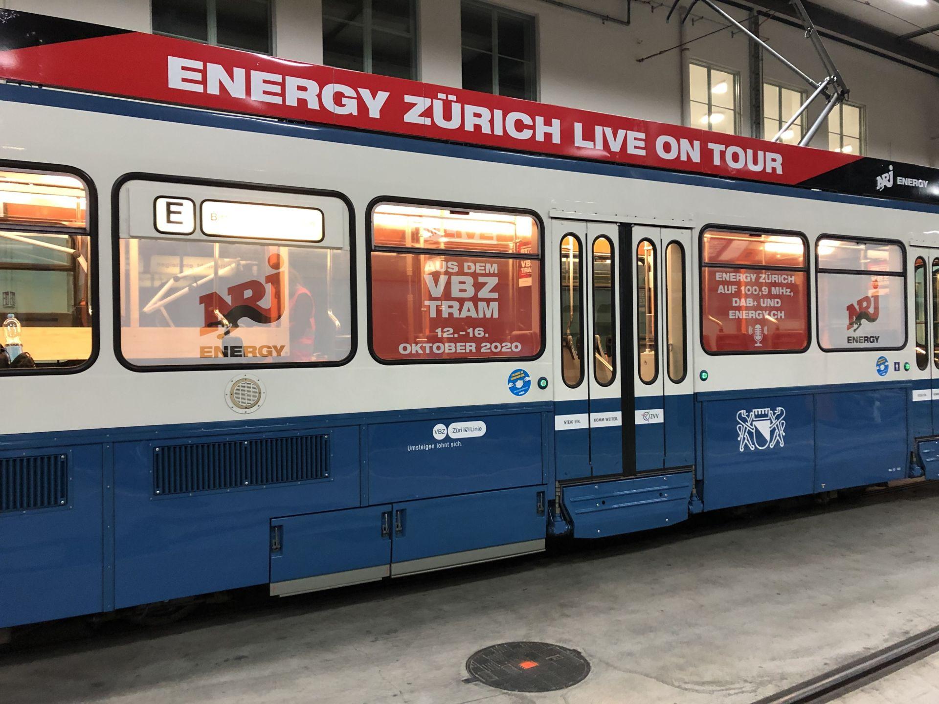 Radio Energy im VBZ Tram